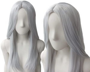 GRAY WIG WITHOUT FRINGE PK003