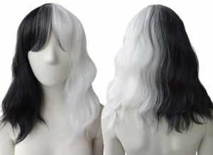 BLACK AND WHITE WIG PK001
