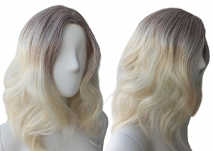 Peruka fale ombre do ramion blond PK024